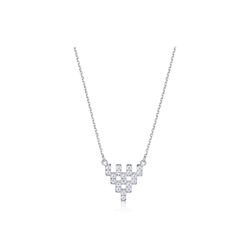 C&C 三角形宝石项链