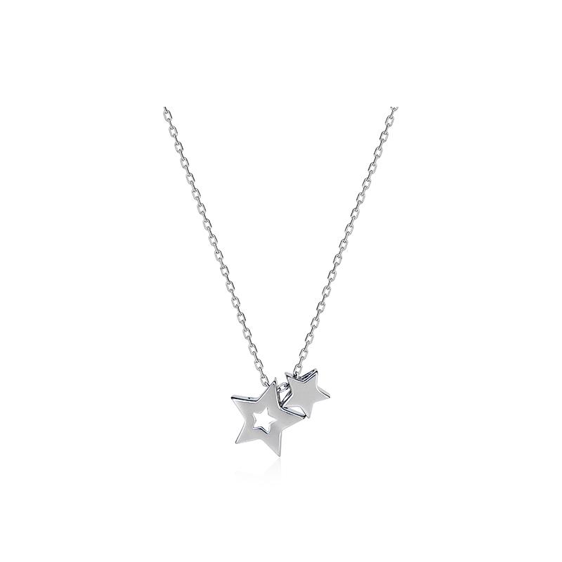 C&C 星星吊坠银项链